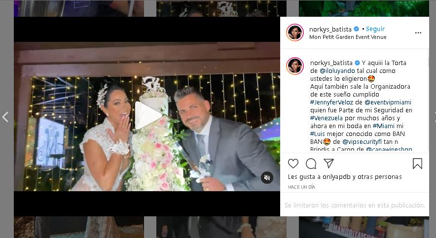 boda de Norkys Batista
