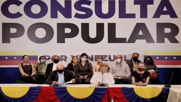 Oposición realiza consulta popular