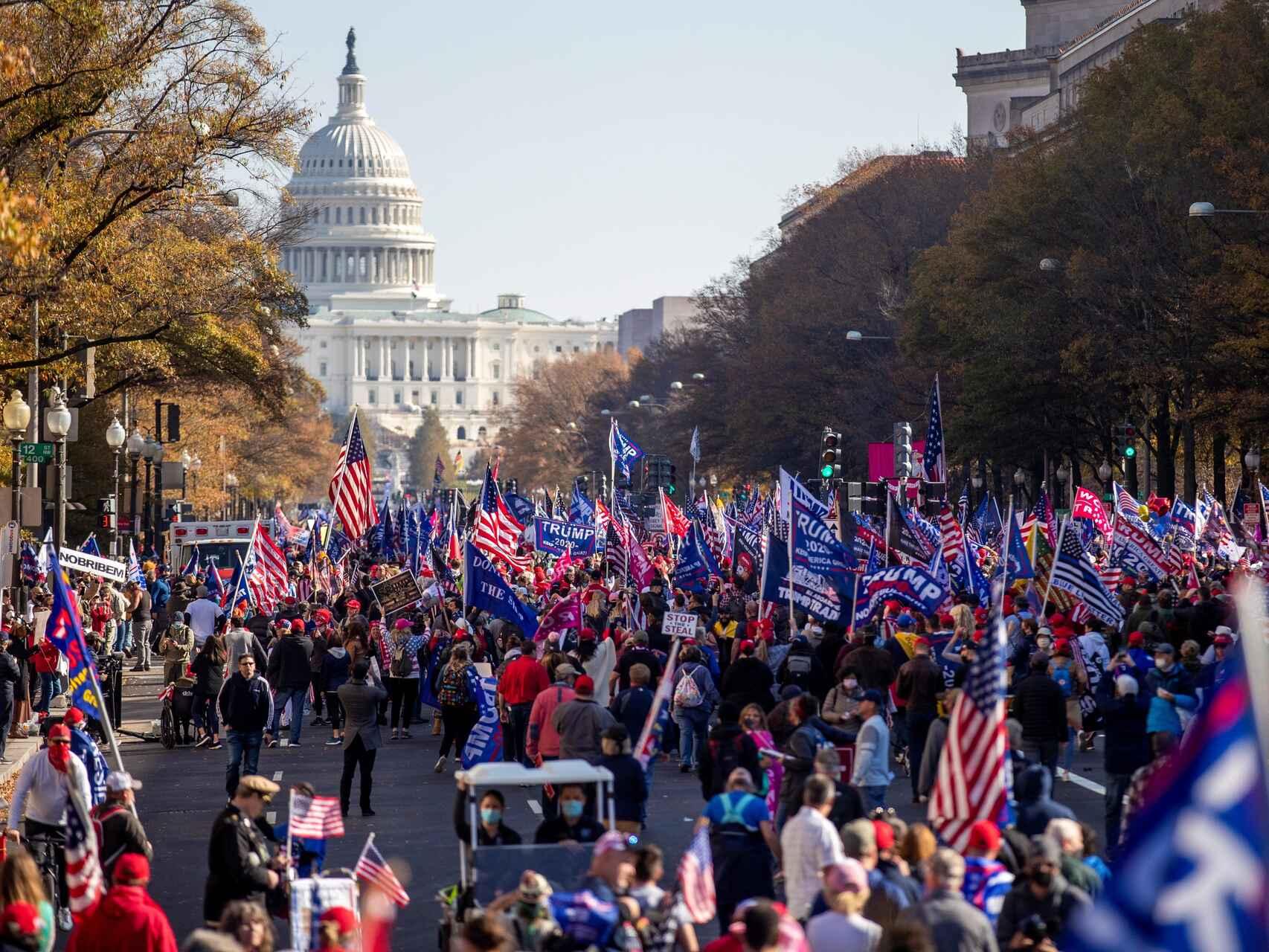 Manifestación a favor de Trump
