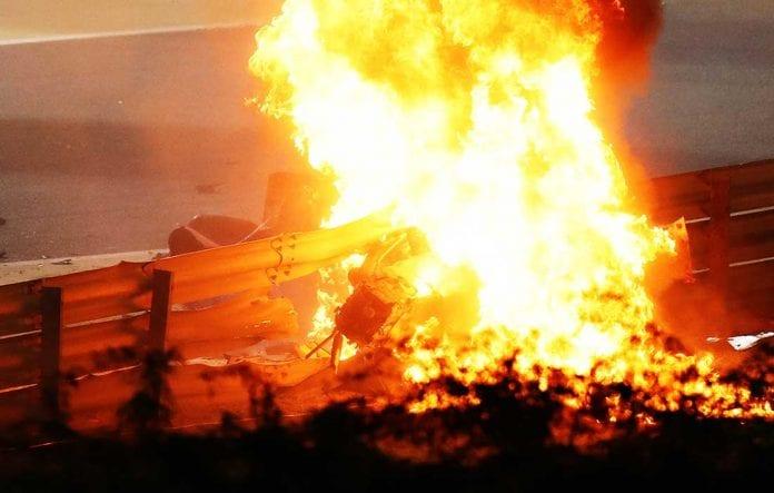 Romain Grosjean accidente GP de Bahrein - Romain Grosjean accidente GP de Bahrein