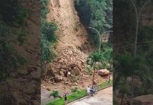 deslizamiento de tierra en Las Chimeneas - deslizamiento de tierra en Las Chimeneas
