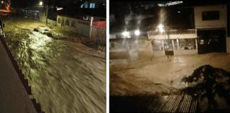 Desbordamiento del río Carapo