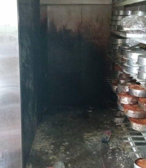 incendio local de tortas Lara