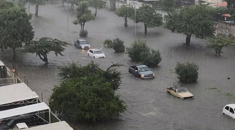 inundaciones en Maracay