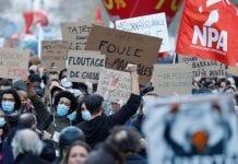 París protestó violencia de fuerzas - París protestó violencia de fuerzas