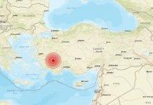 Terremoto de 5.7 se registró en la cosa de Antalya