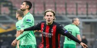 Hauge comandó remontada del AC Milán