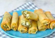 Rollitos de espinacas y queso - Rollitos de espinacas y queso