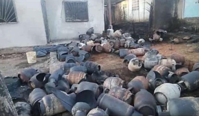 Explosión de bombonas de gas en Monagas – explosión de bombonas de gas en Monagas