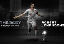 Robert Lewandowski se llevó el premio The Best