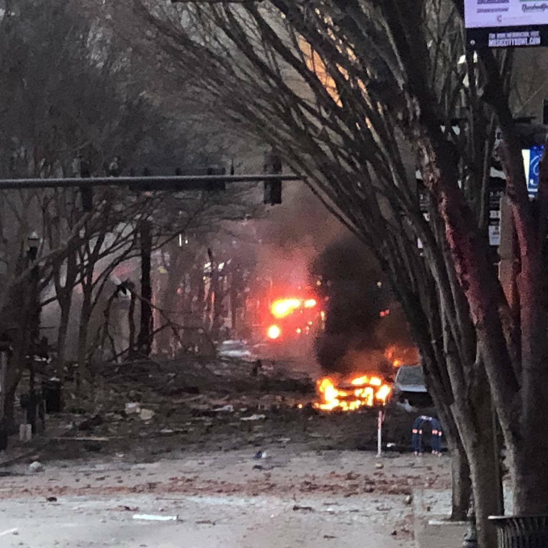 explosión vehículo en Nashville