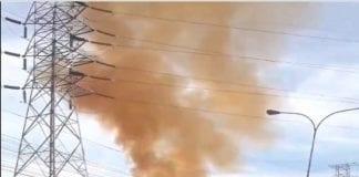 incendio en subestación eléctrica Carabobo