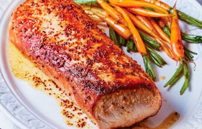 Lomo de cerdo en salsa de miel y mostaza - Lomo de cerdo en salsa de miel y mostaza