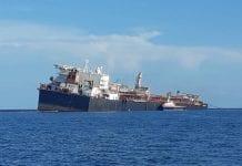 Transferencia del crudo en tanquero Nabarima - Transferencia del crudo en tanquero Nabarima