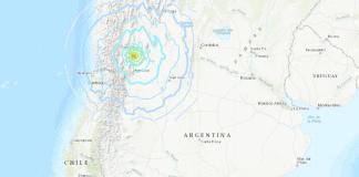 Sismo en la frontera entre Argentina y Chile