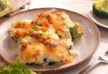 Brócoli gratinado con jamón - Brócoli gratinado con jamón