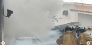 Incendio de vehículo del DGCIM en el Trigal