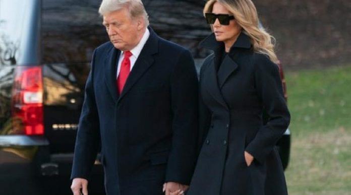 Donald Trump y Melania se despiden - Donald Trump y Melania se despiden