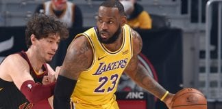 LeBron James preservó invicto de los Lakers