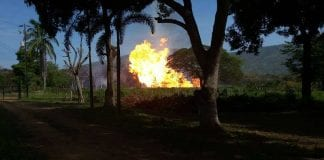 Explosión en el Gasoducto de Oriente Anzoátegui