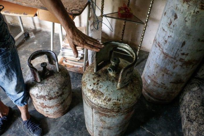 Incendio por fuga de gas en Monagas