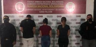 Detenidos por secuestrar y robar a joven en Falcón