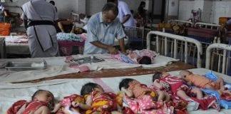 Mueren 10 bebés por incendio