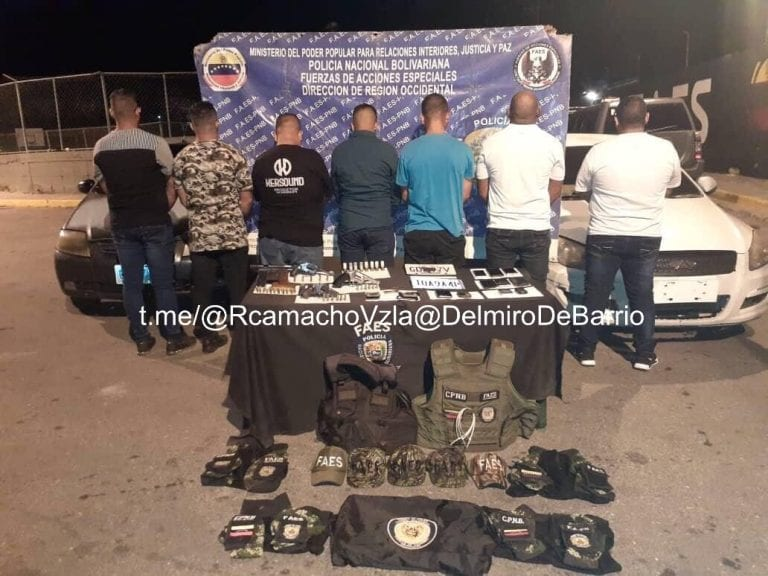Detenidos siete falsos FAES en el estado Lara