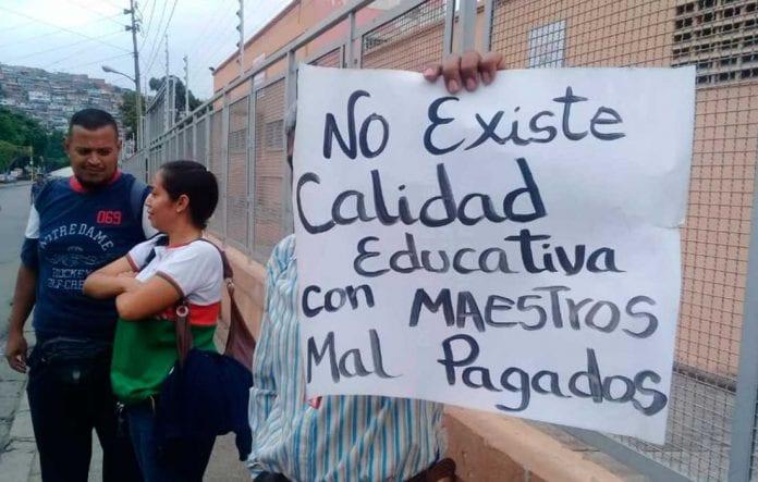 maestros día medio de protestas - maestros día medio de protestas