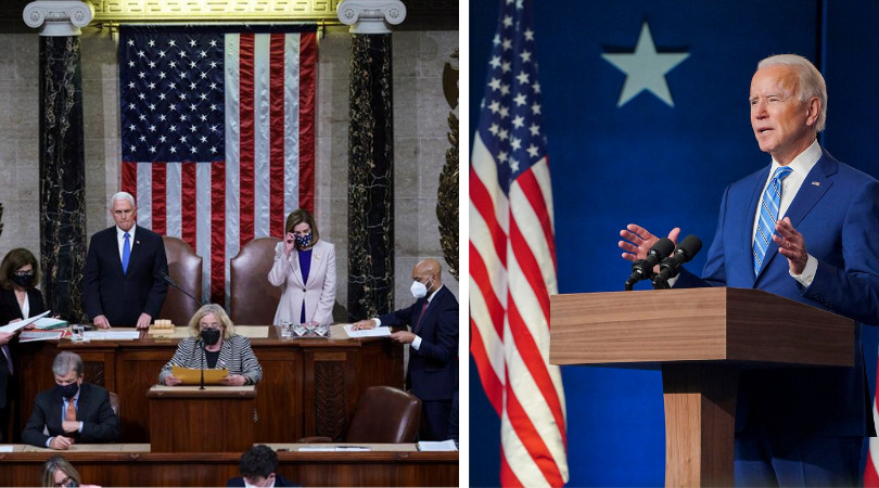 Congreso de EEUU ratifica a Joe Biden