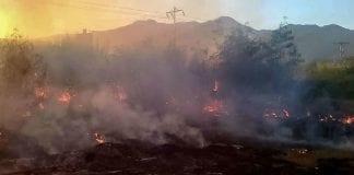 incendio de vegetación en Naguanagua - incendio de vegetación en Naguanagua