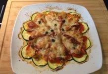 pizza de calabacín - pizza de calabacín