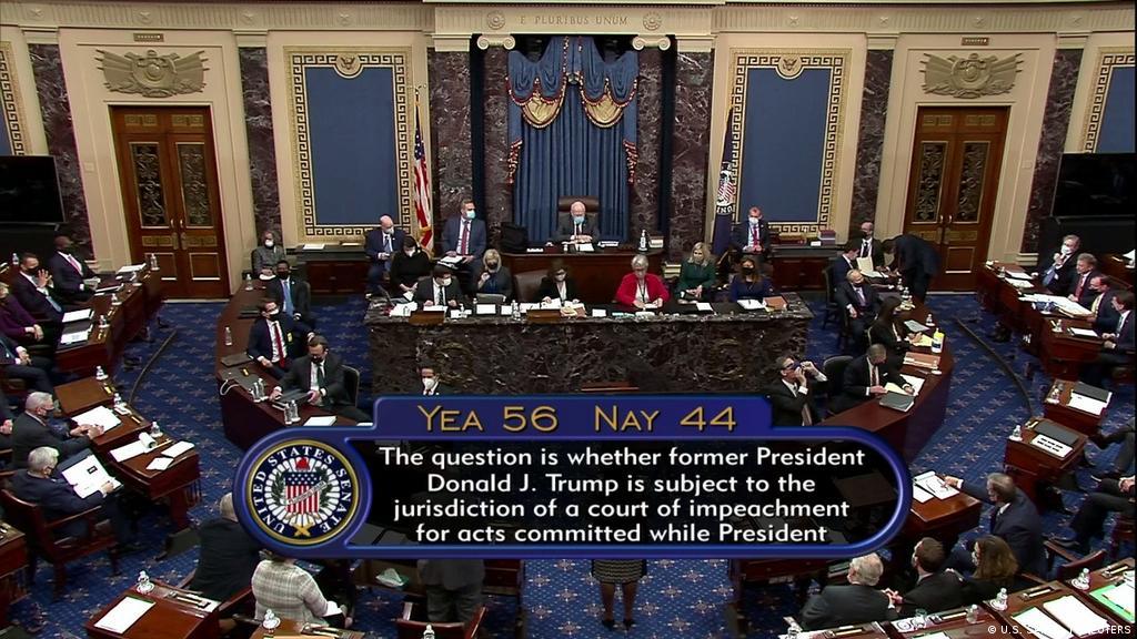 Senado de EEUU aprueba legalidad del impeachment