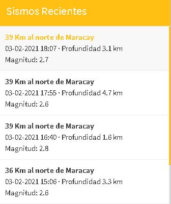 Sismo en Maracay