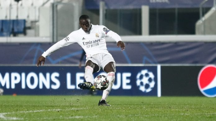 Golazo de Mendy real madrid