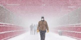 Tormenta de nieve en Texas