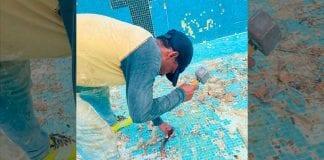"""trabajos en la piscina del """"Misael Delgado"""" - trabajos en la piscina del """"Misael Delgado"""""""