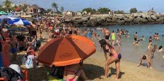 Playas de vargas registraron un gran número de visitantes
