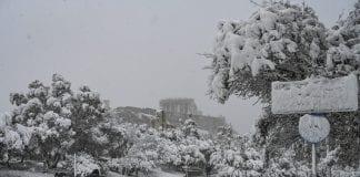 Ola de frío en Grecia