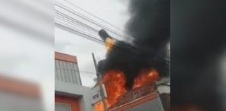 Incendio en una fábrica de Bogotá - Incendio en una fábrica de Bogotá