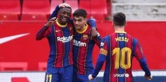 Barcelona sumó su octava victoria seguida como visitante sevilla