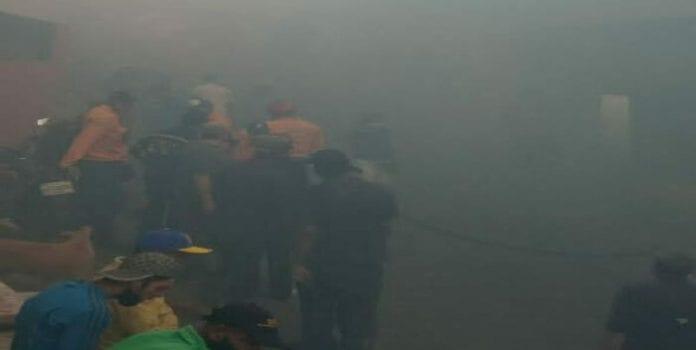 Incendio en terreno baldío en Petare