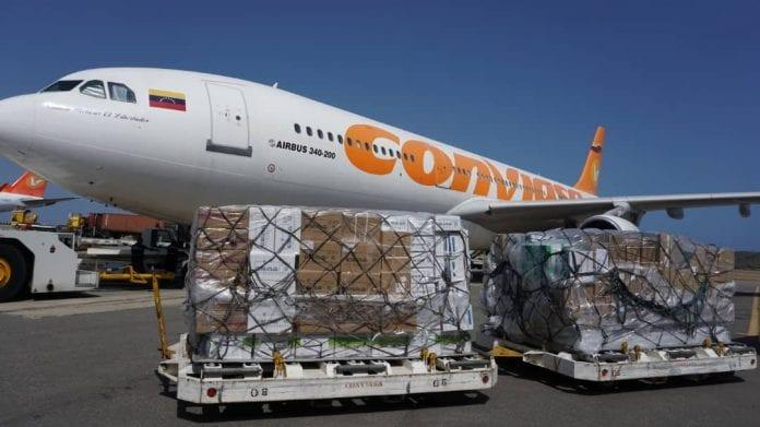 Venezuela recibe 25 toneladas de insumos