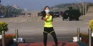 Instructora de aerobic golpe de Estado - Instructora de aerobic golpe de Estado