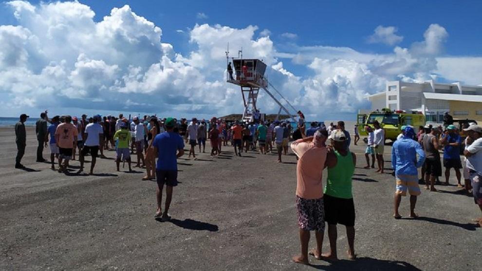 Protesta en Los Roques