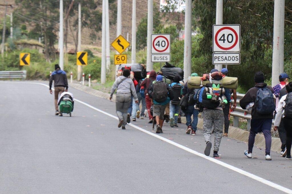 Migrantes venezolanos caminaron 60 días