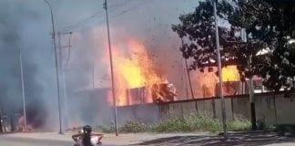 Incendio en Paveca de Guacara - Incendio en Paveca de Guacara