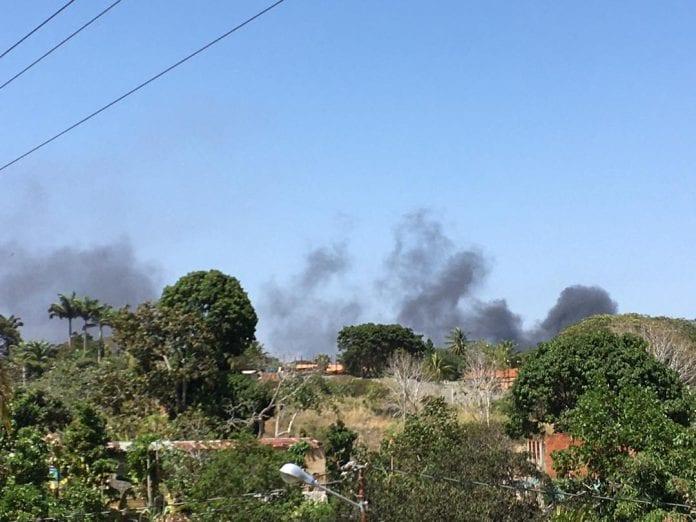 incendio en subestación eléctrica El Manzano - incendio en subestación eléctrica El Manzano