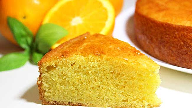 Torta de naranja sin harina