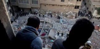 Colapso de un edificio de viviendas en El Cairo